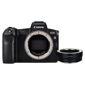Câmera Canon EOS R Corpo + Adaptador EOS R para Lentes EF/EF-S