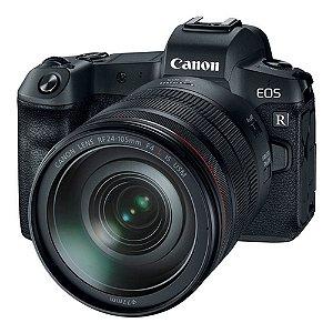 Câmera Canon EOS R RF 24-105mm + adaptador EOS R para Lentes EF/EF-S