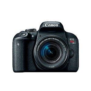 Câmera Canon EOS Rebel T7i  24.2MP Lente EF-S 18-55mm – Preto