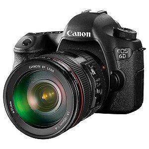 "Câmera Digital Canon EOS 6D 20.2MP 24-105MM 3.0"""