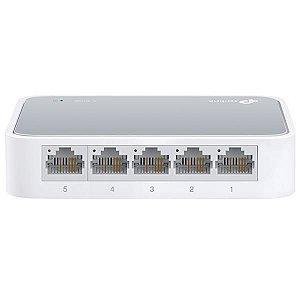 Switch TP-Link TL-SF1005D de 10/100MB/s com 5 Portas - Branco