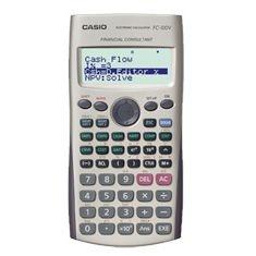 Calculadora Financeira Casio FC-100V - 9 Modos Dourado