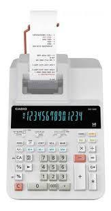 Calculadora Impressora Casio DR-140R-We-e-DC Bivolt - Branco