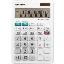 Calculadora Sharp EL-334WB 12 Digitos Tela LCD GD Sol