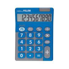 Calculadora Milan Duo Nata BY 10 Digitos 150610TDBBL - Azul