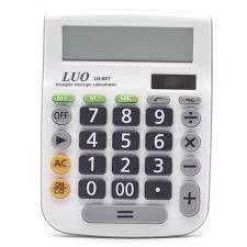 Calculadora Luo LU-627 com 12 Digitos - Branco