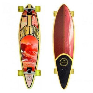 Longboard Completo Kryptonics Surf Map Pintail 37""