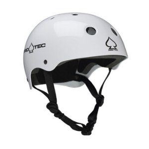 Capacete Protec Classic Skate Gloss White