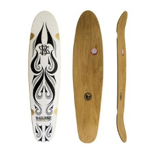 "Shape Longboard Black Sheep Tribal 2 Branco 42"" x 10"""