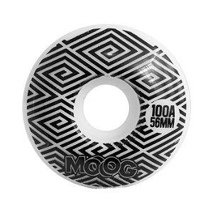 Roda Moog Op Art 56mm 100A Branca