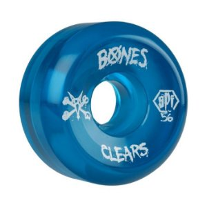 Roda Bones SPF Clear 56mm 84B Azul