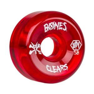 Roda Bones SPF Clear 58mm 84B Vermelha