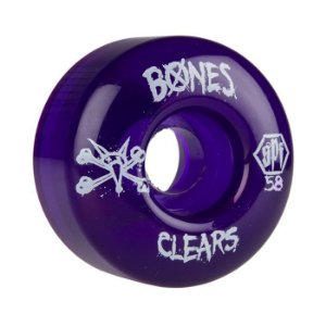 Roda Bones SPF Clear 58mm 84B Roxa