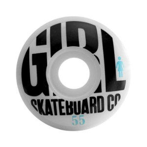 Roda Girl Skateboard Co 55mm 101A Branca