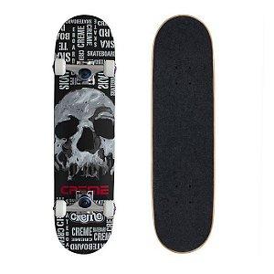 Skate Completo Importado Crème Skull Black 8.0 - Shape Maple