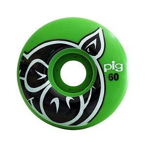 Roda Pig Head 60mm 101a Verde