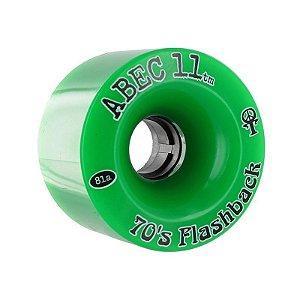 Roda Abec 11 Flashback Verde 81A 70mm