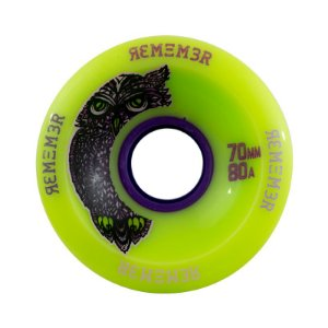 Roda Remember Hoot Slide 70mm 80a Verde