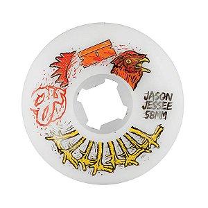 Roda OJ Jessee Rooster 58mm 101a Branca