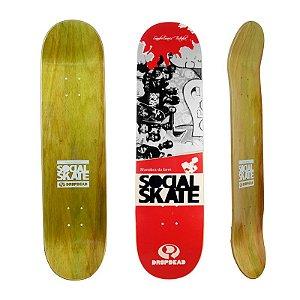 Shape Drop Dead Projeto Social Skate Sandro Testinha 8.2