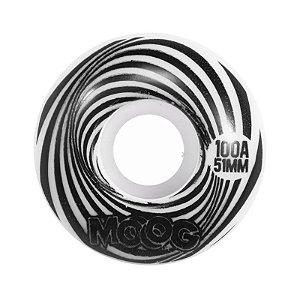 Roda Moog Op Art 51mm 100A Branca