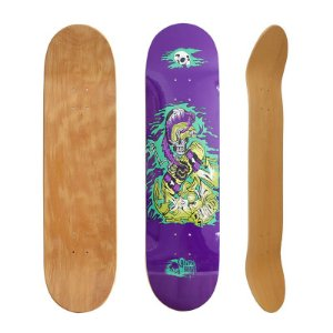 Shape Crazynboard Skeleton Skateboard Roxo 8.5