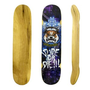 "Shape Longboard Insanos Model Celinho Slide Or Die Double Deck 9.75"" x 40"" Roxo"