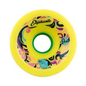 Roda Face Skate Fast Elephante P Core 72mm 83a Amarela