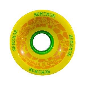 Roda Remember Savannah Slamma 70mm 78A Amarela