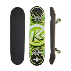 Skate Completo Kryptonics Ray Gun Series K Green 7.5 - Shape Maple