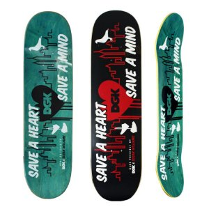 Shape DGK Maple Save A Heart Save a Mind 8.25
