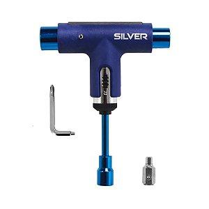 Chave Silver Premium Skateboard Spectrum Blue