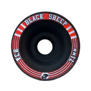 Roda Black Sheep Longboard 71mm 83a Offset Preta