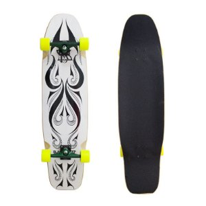 Longboard Completo Black Sheep Tribal White com Roda Moska 9.0 x 40