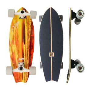 "Simulador de Surf Nitro SK8 Orange Wave 10"" x 29.5"""
