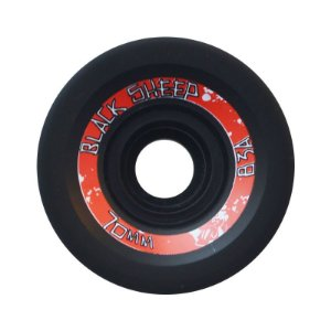 Roda Black Sheep Longboard 70mm 83A Centerset Preta