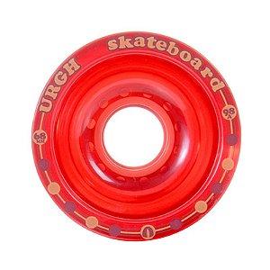 Roda Urgh Longboard Clear 68mm 83A Vermelha