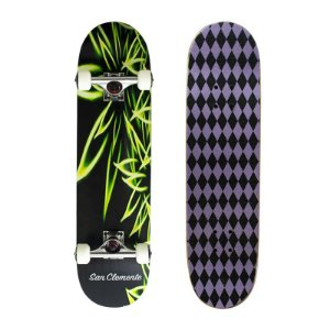 Skate Completo Importado San Clemente Fire Green 8.0 - Shape Maple