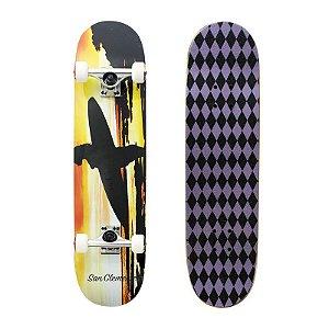 Skate Completo Importado San Clemente Paradise 8.0 - Shape Maple
