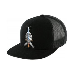 Boné Powell Peralta Trucker Skull And Sword Black