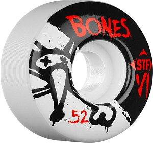 Roda Bones STF V1 Series 52mm 83B Branca