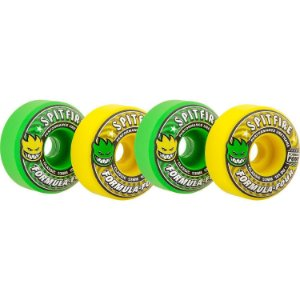 Roda Spitfire Formula Four Cool Aid 53mm 101a Green Yellow