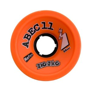 Roda Abec 11 Zig Zag Reflex 66mm 89A Orange Plus