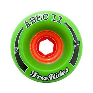Roda Abec 11 Freerides Classic 77mm 78A Verde