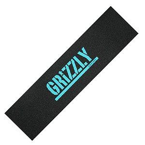 Lixa Grizzly Stamp Print Diamond Blue