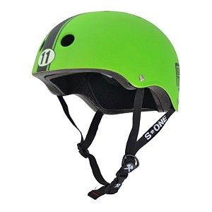 Capacete S-One Lifer Abec 11 Certified Green Matte Stripe