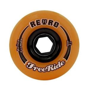 Roda Abec 11 Freeride Retro Reflex 72mm 86A Orange