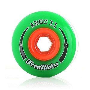 Roda Abec 11 Freerides Classic 72mm 81A Verde