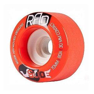 Roda Rad Glide Slide 70mm 80A Vermelha