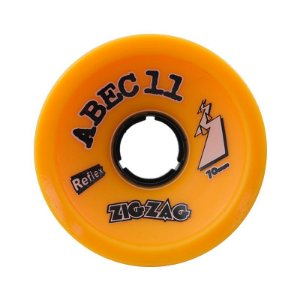 Roda Abec 11 Zig Zag Reflex 70mm 89A Orange Plus